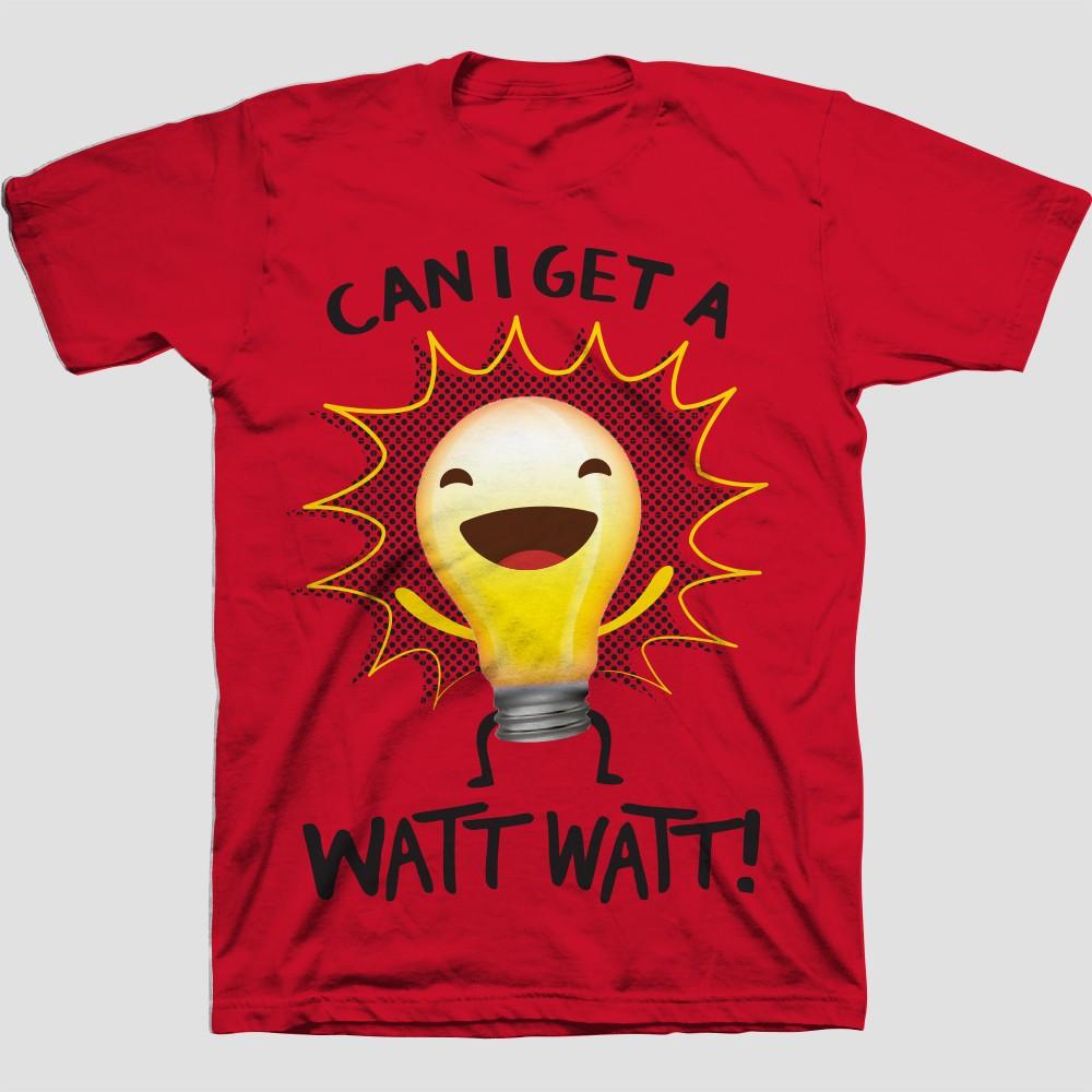 Boys Light Bulb Short Sleeve T-Shirt - Red XS