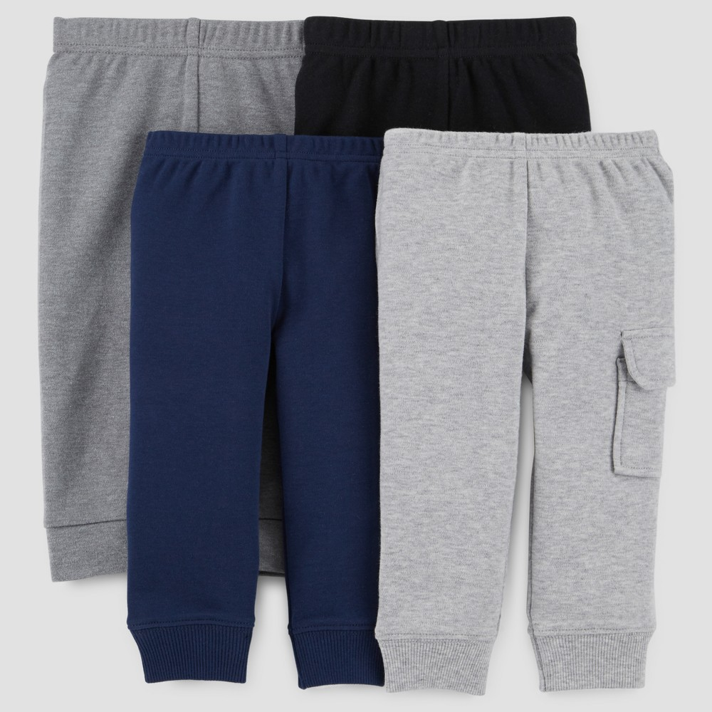 Baby Boys' 4pk Pants - Just One You Made by Carter's Gray 12M