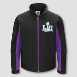 NFL Super Bowl 52 Men's Full Zip Softshell Jacket - Black/Purple