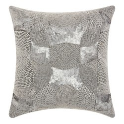 Silver Mosaic Throw Pillow - Mina Victory