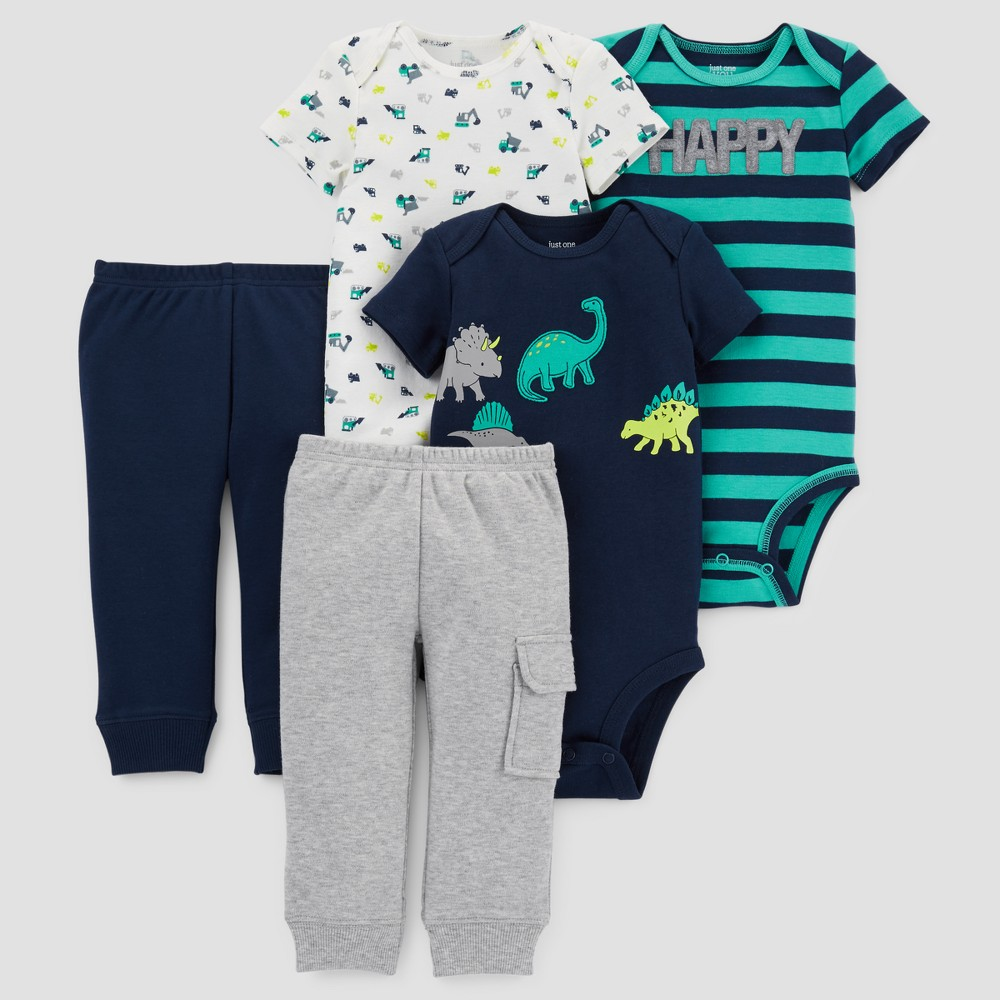 Baby Boys 5pc Dino Bundle - Just One You Made by Carters Navy 18M, Blue