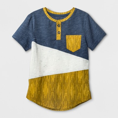 Toddler Boys' Genuine Kids™ from OshKosh® Short Sleeve Henley - Blue - 12 M