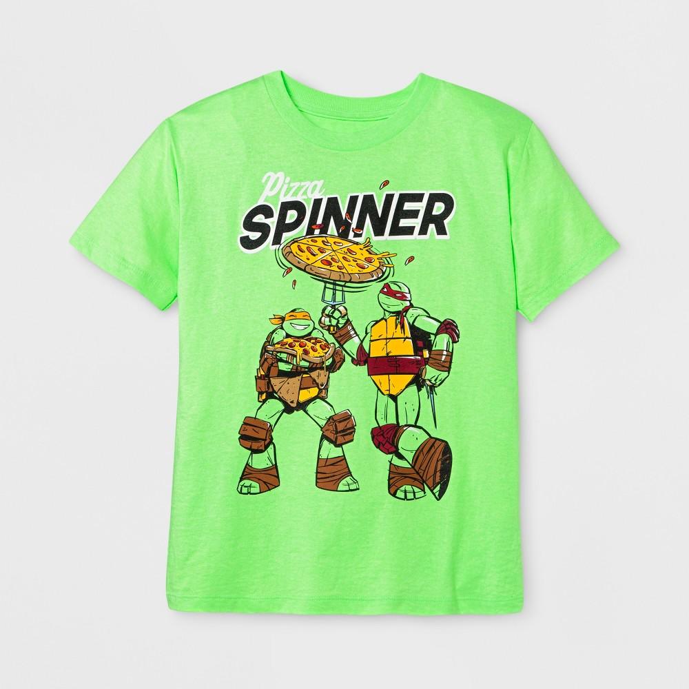 Boys Short Sleeve Teenage Mutant Ninja Turtles T-Shirt - Exotic Green M