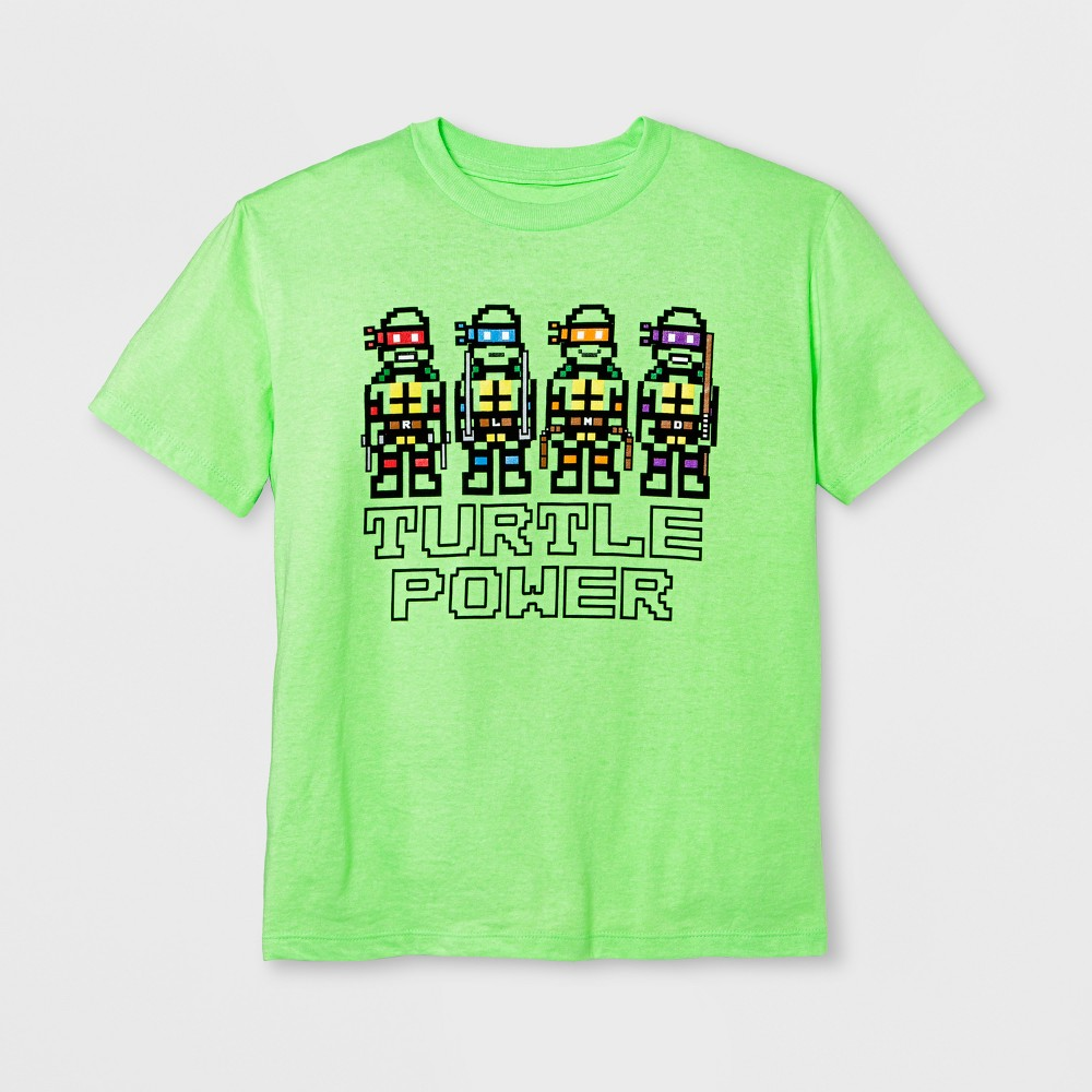 Boys' Short Sleeve Teenage Mutant Ninja Turtles T-Shirt - Exotic Green XL