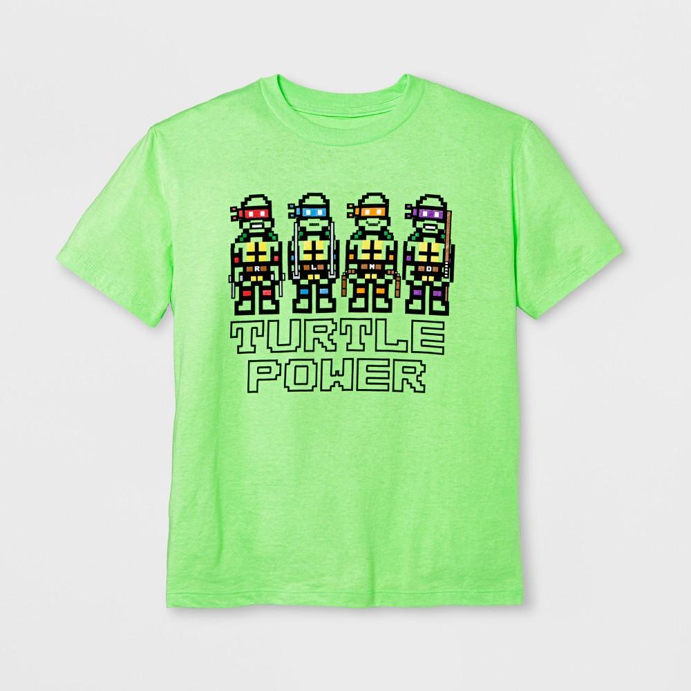 Boys Short Sleeve Teenage Mutant Ninja Turtles T-Shirt - Exotic Green XL
