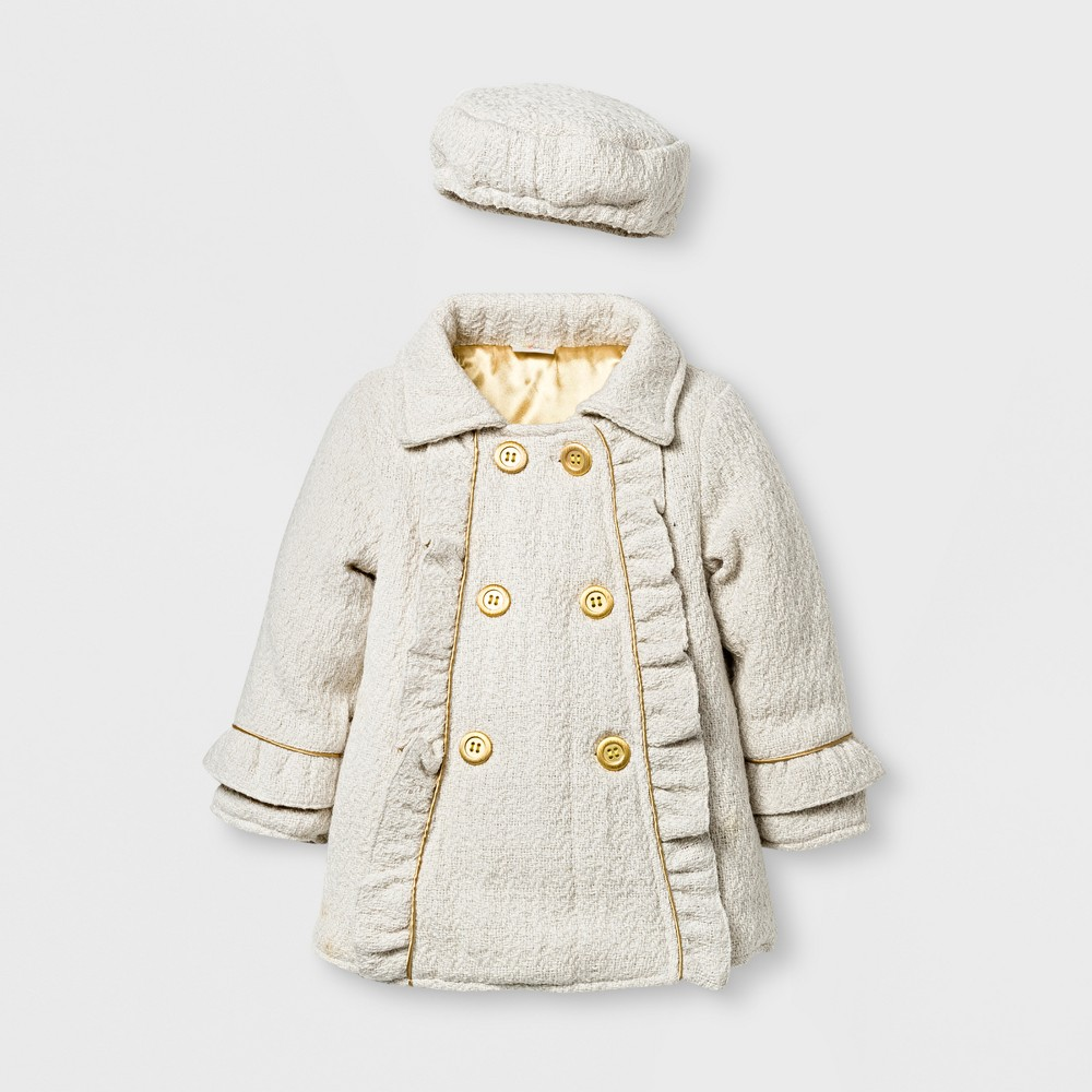 Outerwear Coats And Jackets Penny M 4T Cream, Girls, Beige