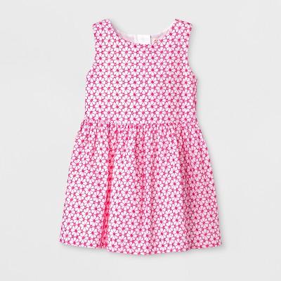 Toddler Girls' Dress Embroidery Eyelet - Cat & Jack™ Pink 12M