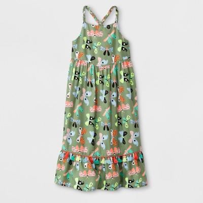 Toddler Girls' Maxi Dress - Cat & Jack™ Green 12M