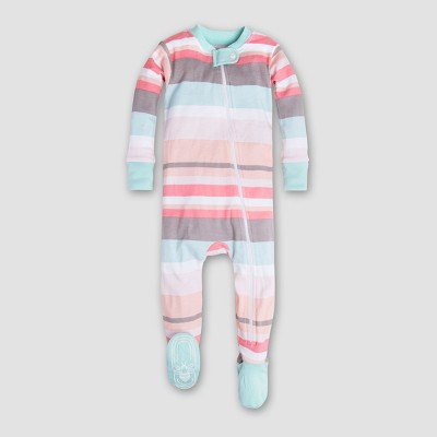 Burt's Bees Baby Girls' Organic Cotton Stripe Sleeper - Multi 0-3M