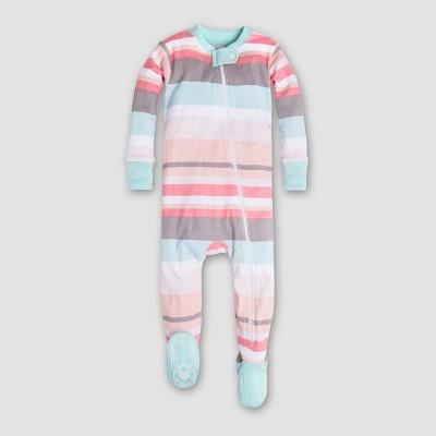 Burt's Bees Baby Girls' Organic Cotton Stripe Sleeper - Multi 0-3M