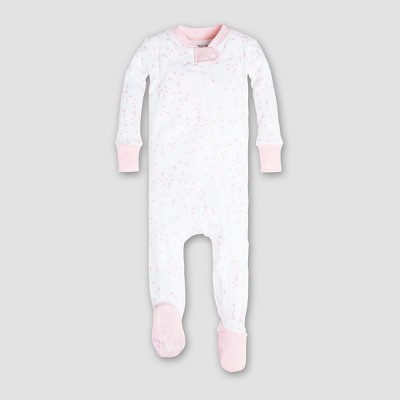 Burt's Bees Baby Girls' Organic Cotton Twinkle Bee Sleeper - Pink 6-9M