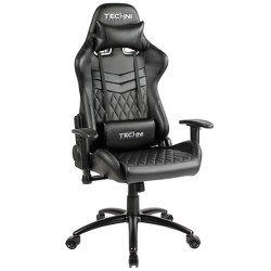Ts-5100 Ergonomic High Back Racer Style Video Gaming Chair- Black- Techni Sport