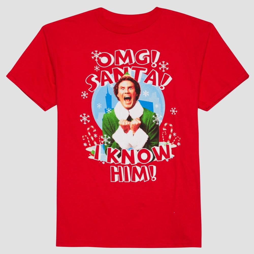 Boys Warner Bros Elf Short Sleeve T-Shirt - Really Red XL