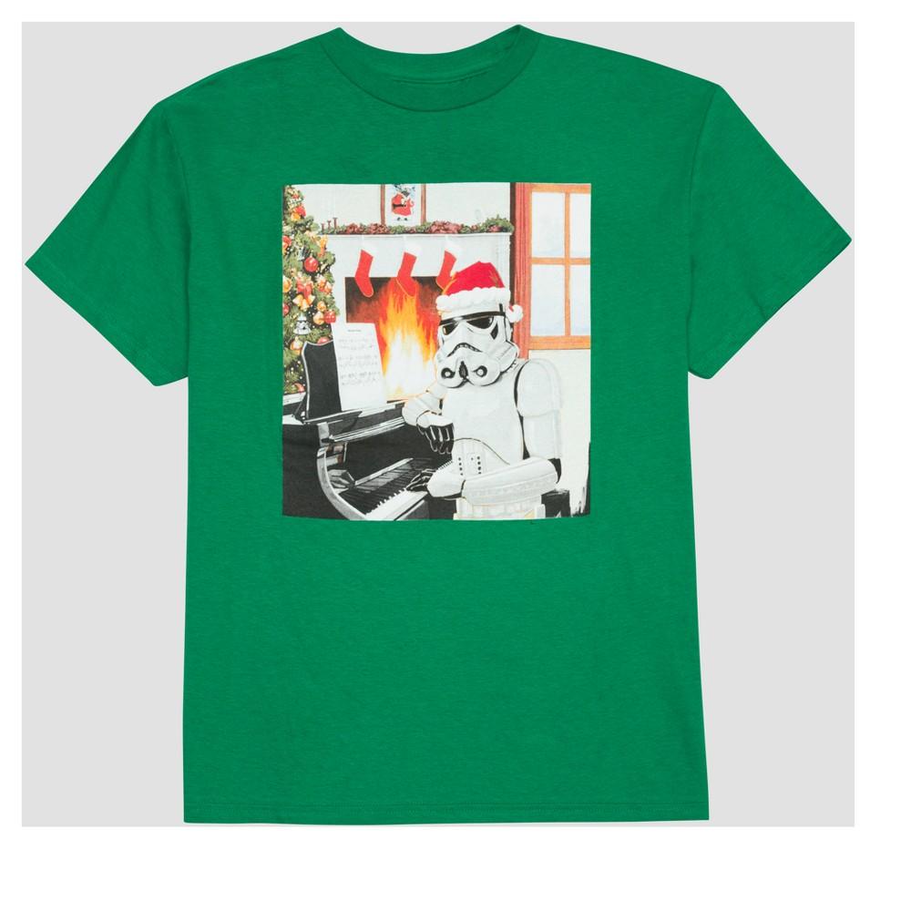 Boys Star Wars Stormtrooper Short Sleeve T-Shirt - Green XL