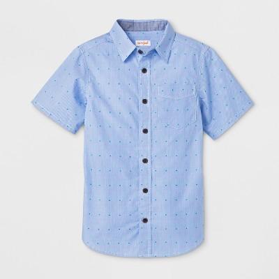 Boys' Short Sleeve Button Down Shirt - Cat & Jack™ Blue/Green S