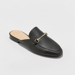 Women's Kona Backless Slip On Loafer Mules - A New Day™ Black