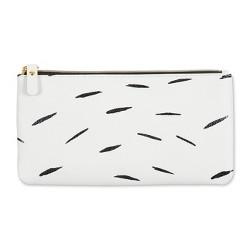 Ashley G Pencil Case - White with Black