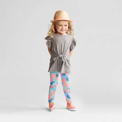 Toddler Girls' Top and Bottom Set - Cat & Jack™ Gray 2T