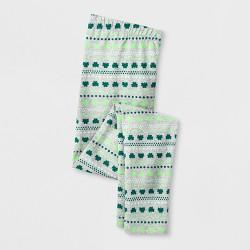 Girls' St. Patrick's Day Shamrock Print Legging - Cat & Jack™ Heather Gray