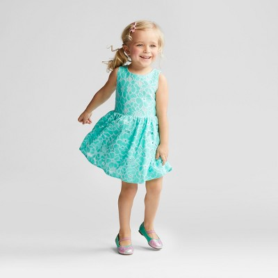 Toddler Girls' Dress - Cat & Jack™ Aqua 2T