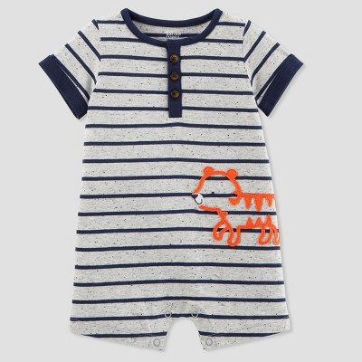 Baby Boys' 1pc Tiger Romper - Just One You® made by carter's Gray 12M