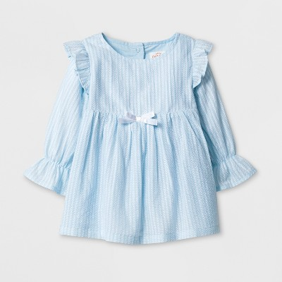 Baby Girls' A-Line Dress - Cat & Jack™ Blue 0-3M