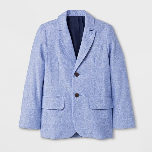 Boys' Long Sleeve Blazer - Cat & Jack™ Blue - image 1 of 2