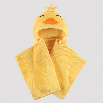 Hudson Baby Plush Blanket with Hood - Little Duck