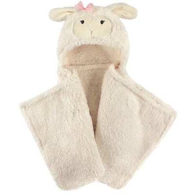 Hudson Baby Plush Blanket with Hood - Girly Lamb