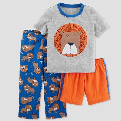 Baby Boys' 3pc Lion Pajama Set - Just One You® made by carter's Gray 12M