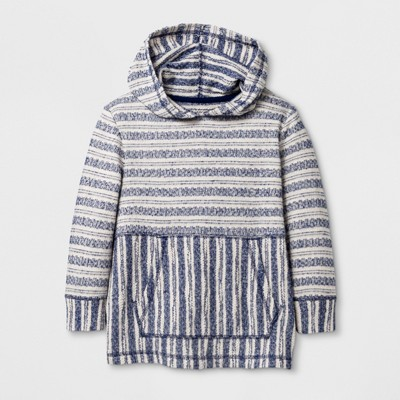 Toddler Boys' Baja Hoodie - Cat & Jack™ Blue Stripes - 4T