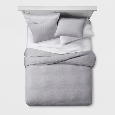 Gray Micro Texture Duvet Cover Set (King)- Project 62™