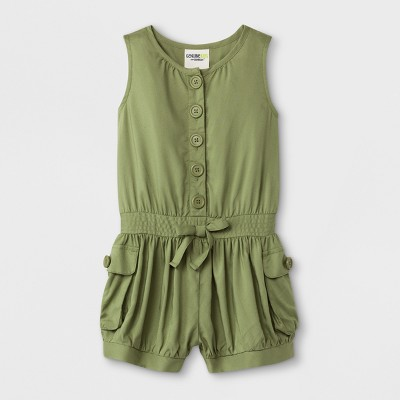 Toddler Girls' Romper - Genuine Kids from Oshkosh Green 12M