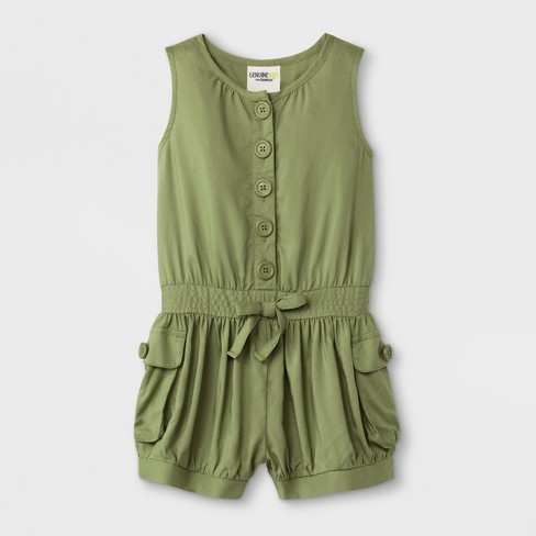 Toddler Girls' Romper - Genuine Kids from Oshkosh Green - image 1 of 2