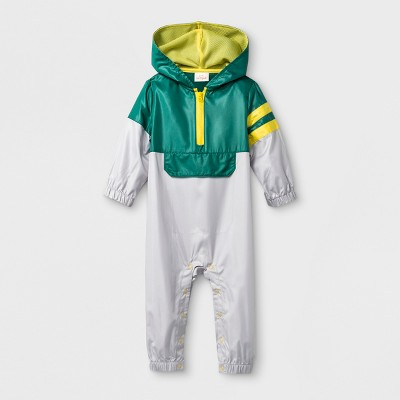 Baby Boys' Windsuit Romper - Cat & Jack™ Green NB