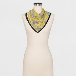 Women's Floral Neckerchief - A New Day™ Yellow