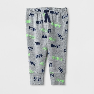 Baby Boys' Printed Joggers - Cat & Jack™ Light Blue NB