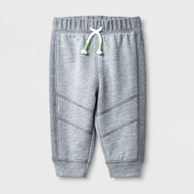 Baby Boys' Knee Seam Joggers - Cat & Jack™ Gray 3-6M