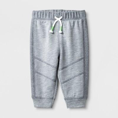Baby Boys' Knee Seam Joggers - Cat & Jack™ Gray 3-6M