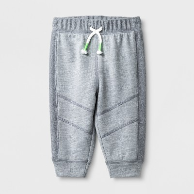 Baby Boys' Knee Seam Joggers - Cat & Jack™ Gray 18M