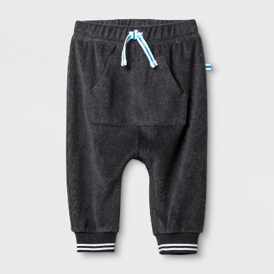 Baby Boys' Kangaroo Pocket Joggers - Cat & Jack™ Charcoal 3-6M