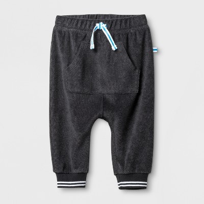 Baby Boys' Kangaroo Pocket Joggers - Cat & Jack™ Charcoal 12M