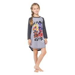 Girls' Five Nights at Freddy's Nightgown - Gray/Black