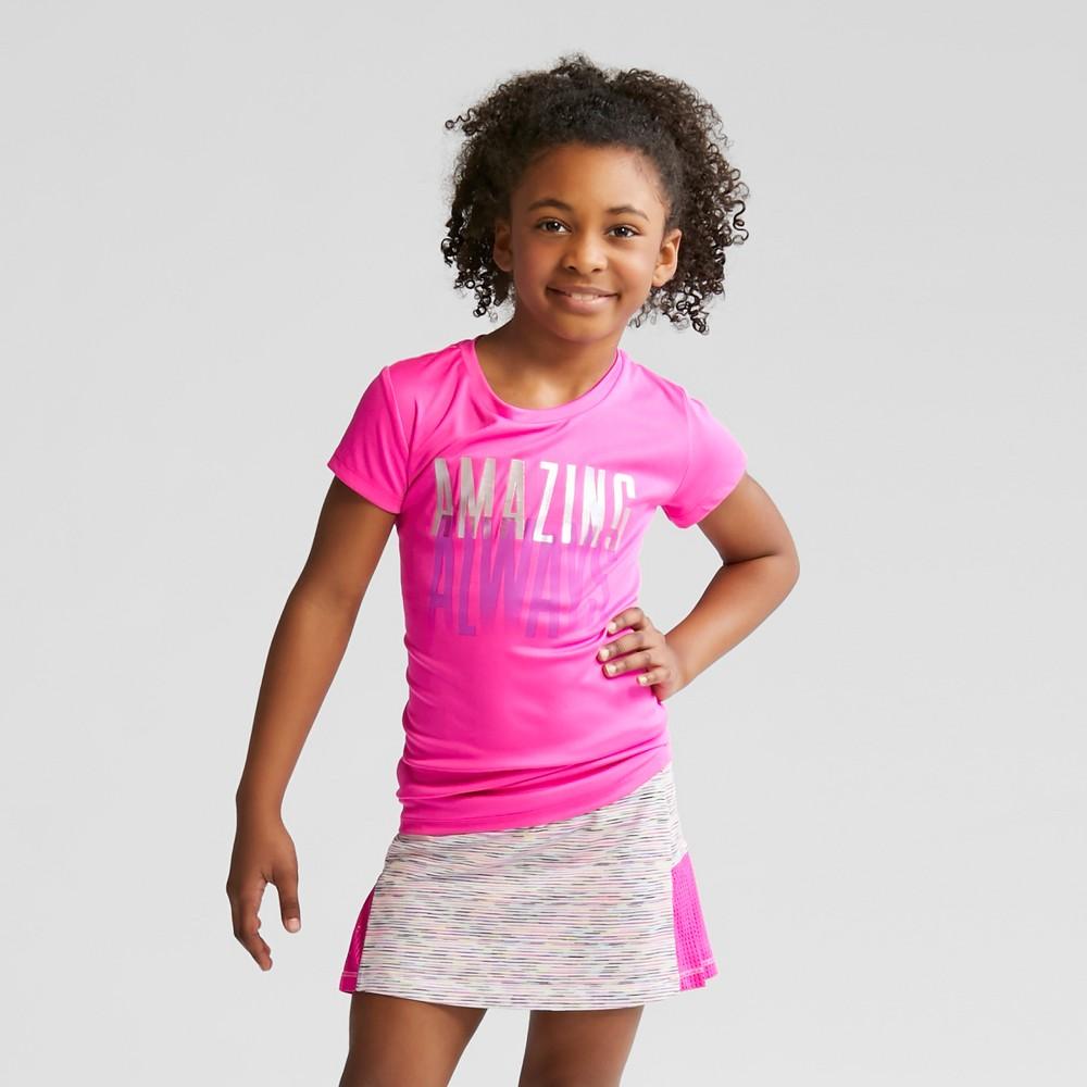 Girls' Always Amazing Graphic Tech T-Shirt - C9 Champion Fuchsia Pink S
