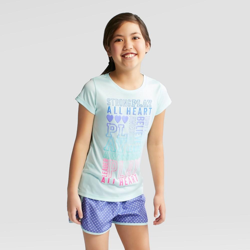 Girls' Believe Graphic Tech T-Shirt - C9 Champion Light Blue L
