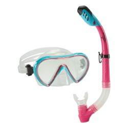 Speedo Adult Expedition Mask Snorkel Combo - Light Blue
