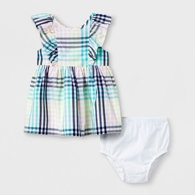 Baby Girls' A-Line Dress - Cat & Jack™ Plaid 3-6M