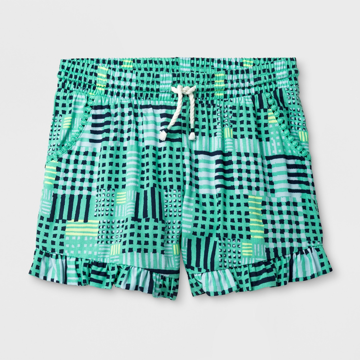 Girls' Challis Fashion Shorts - Cat & Jack™ Iridescent Green - image 1 of 1
