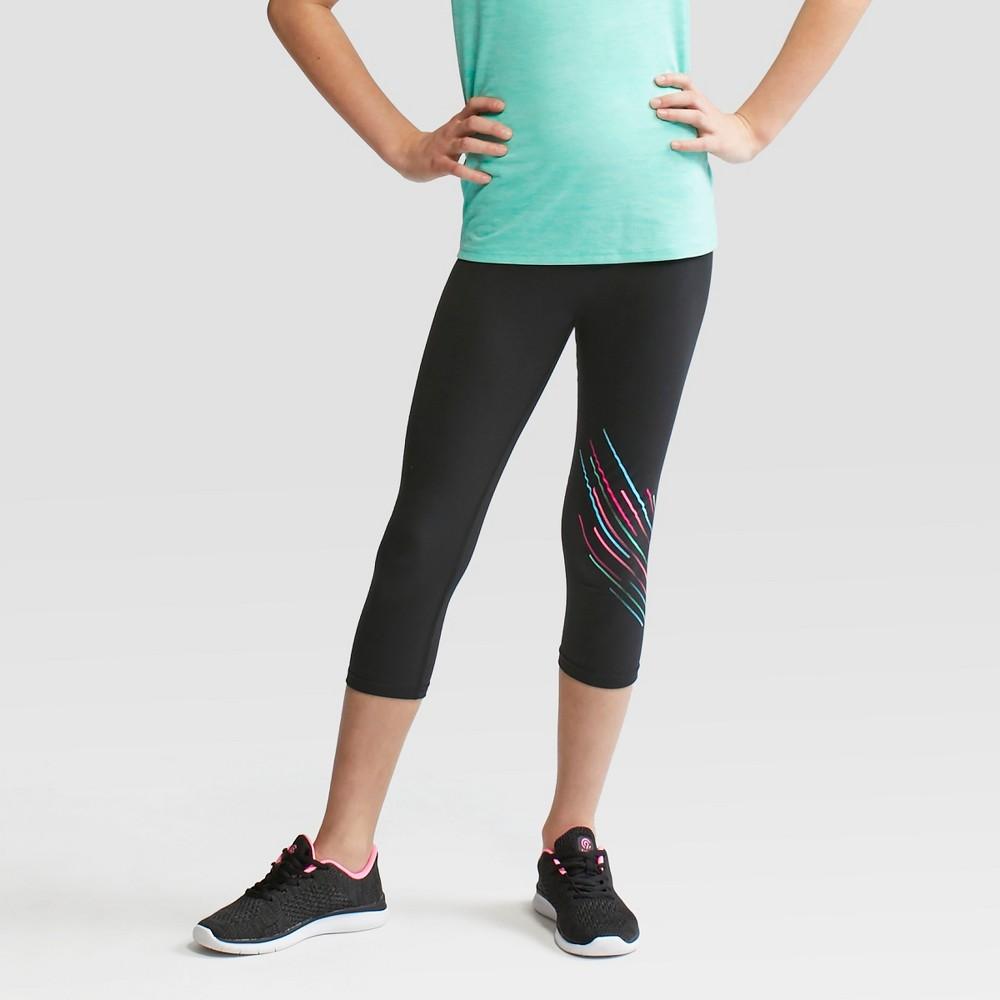 Girls' Printed Capri Leggings - C9 Champion Black L
