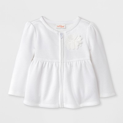 Baby Girls' Sweater - Cat & Jack™ White 0-3M